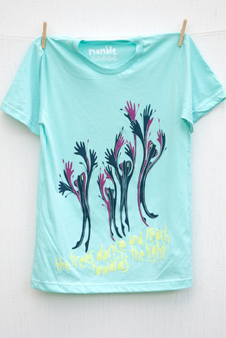 Dancing Trees - Light Aqua Unisex T-shirt
