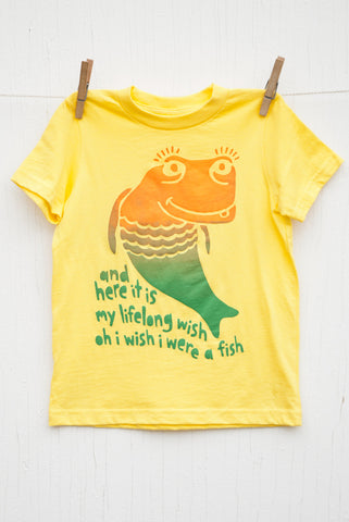 Wish Fish - Yellow Kid's T-shirt
