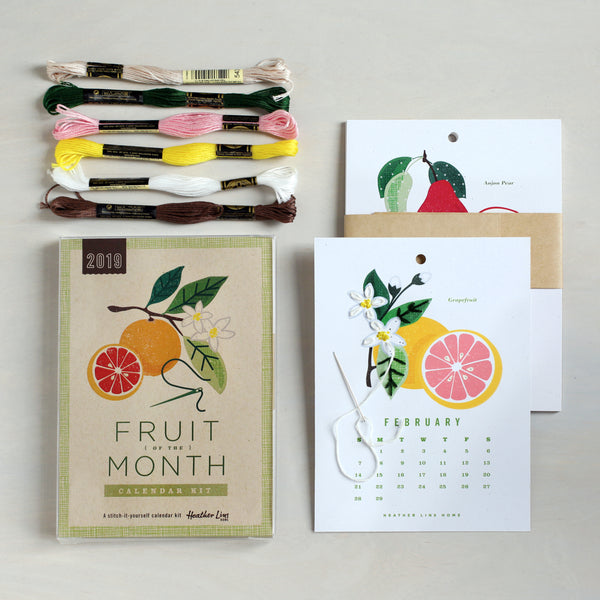 2019 Fruit of the Month Calendar Kit