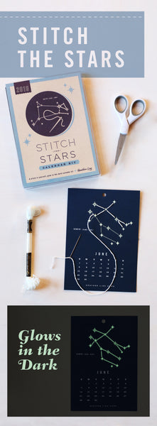 Stitch the Stars Calendar Kit - it glows in the dark - zodiac