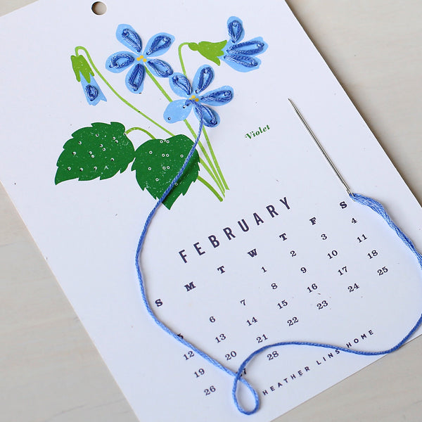 2017 The Year in Bloom Calendar Kit