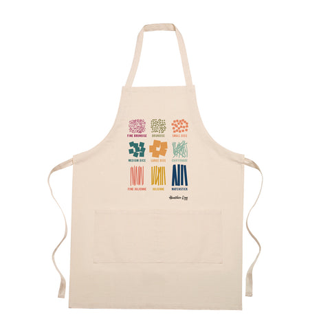 A Cut Above Apron - gift for cooks, kitchen, diagrams of common cuts