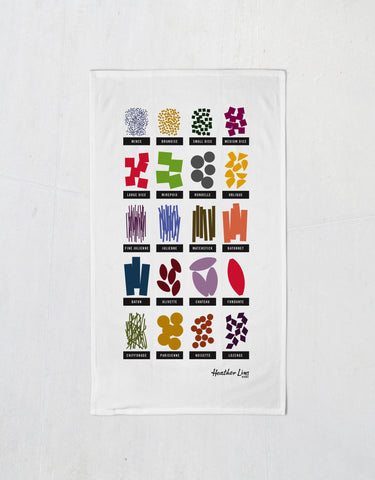 A Cut Above Apron Tea Towel
