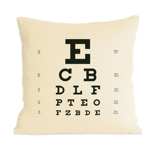 Eye Chart Pillow ~ Organic Hemp/Cotton blend