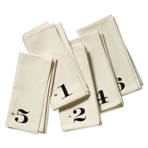 Numbered Edition Napkins, set of six
