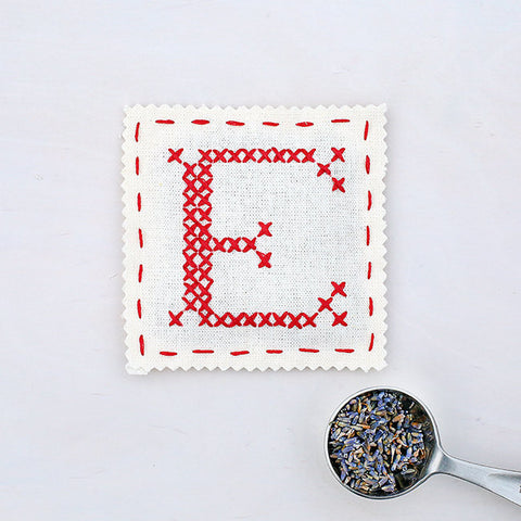 Letter E - Stitch Your Own Sachet Kit