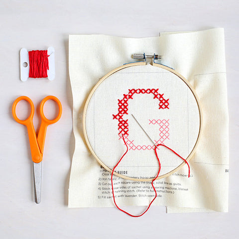 Letter G - Stitch Your Own Sachet Kit