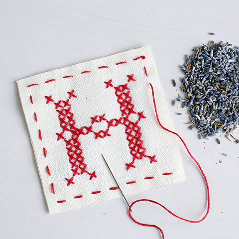 Letter H - Stitch Your Own Sachet Kit