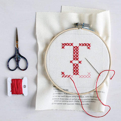 Letter I - Stitch Your Own Sachet Kit