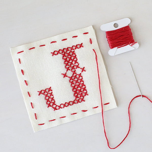 Letter J - Stitch Your Own Sachet Kit