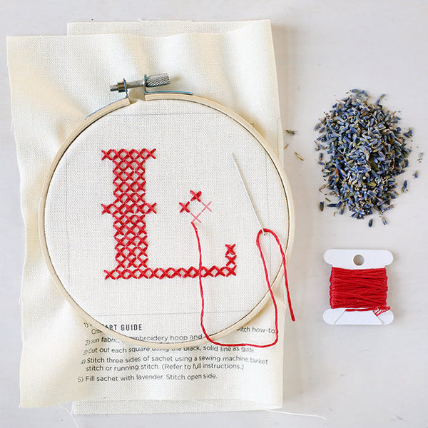 Letter L - Stitch Your Own Sachet Kit