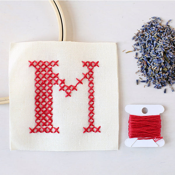 Letter M - Stitch Your Own Sachet Kit