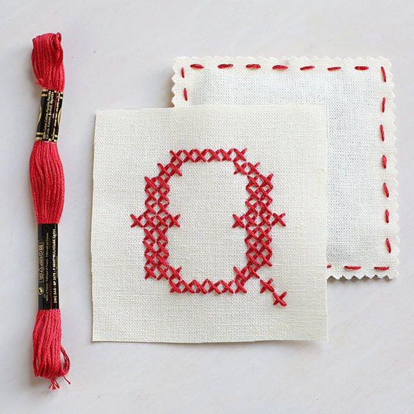 Letter Q - Stitch Your Own Sachet Kit