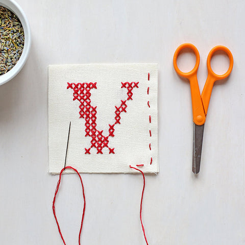 Letter V - Stitch Your Own Sachet Kit