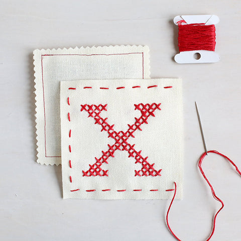 Letter X - Stitch Your Own Sachet Kit