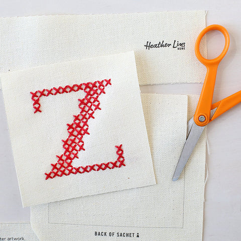 Letter Z - Stitch Your Own Sachet Kit
