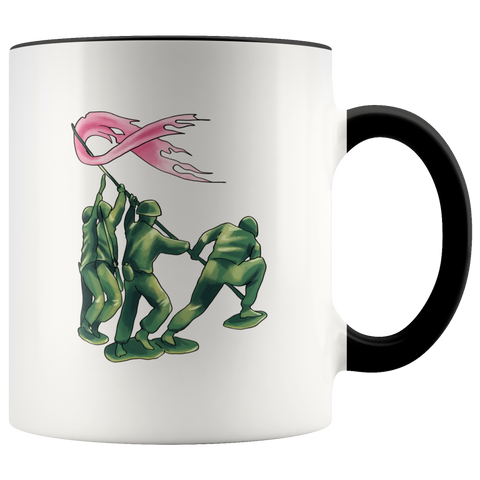 Soldiers Against Breast Cancer Pink Ribbon Mug