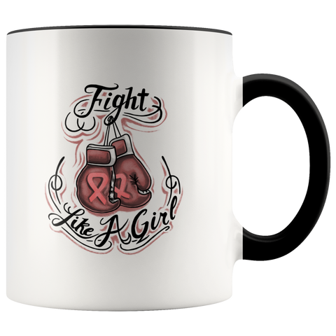 Fight Like A Girl - Breast Cancer Awareness Mug
