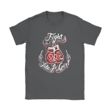 Fight Like A Girl - Breast Cancer Awareness T-Shirt