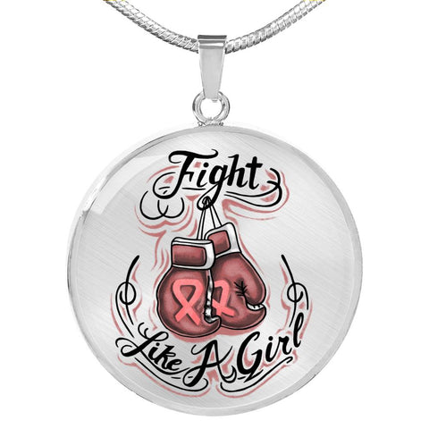 Fight Like A Girl - Breast Cancer Awareness Necklace