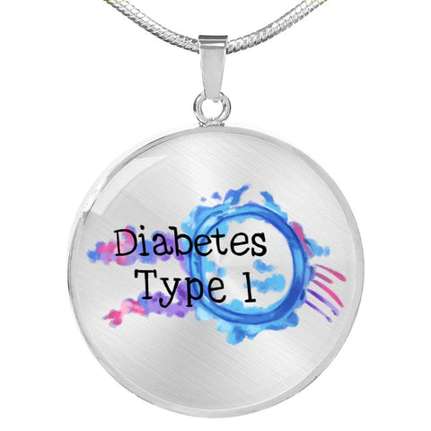 Diabetes Type 1 Medical Necklace