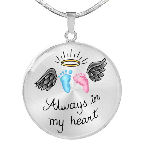 Always In My Heart SIDS & Pregnancy Infant Loss Awareness Necklace