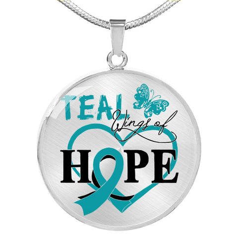 Teal Wings Of Hope - Ovarian Cancer Awareness Necklace