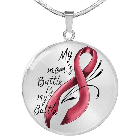 My Mom's Battle - Breast Cancer Awareness Necklace