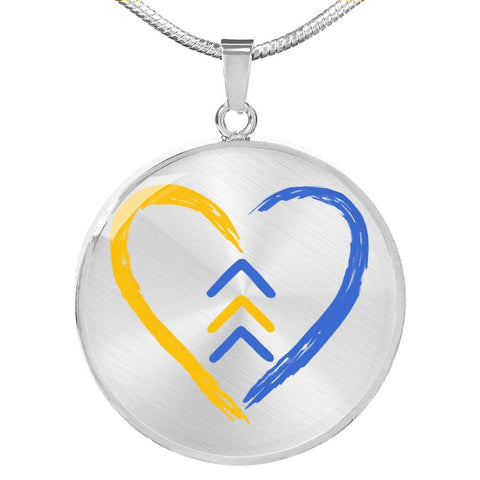 Down Syndrome Awareness Heart Symbol Necklace