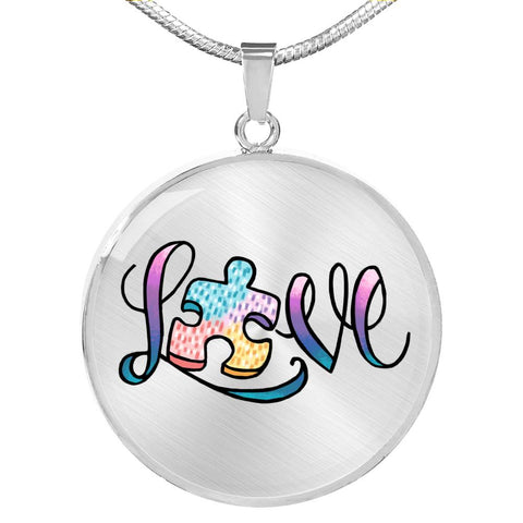 Love Autism Awareness Necklace