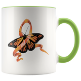 Leukemia Orange Ribbon Butterfly Mug