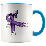 Purple Ribbon Domestic Violence Mug