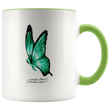 Inhale Exhale - Mental Health Butterfly Mug