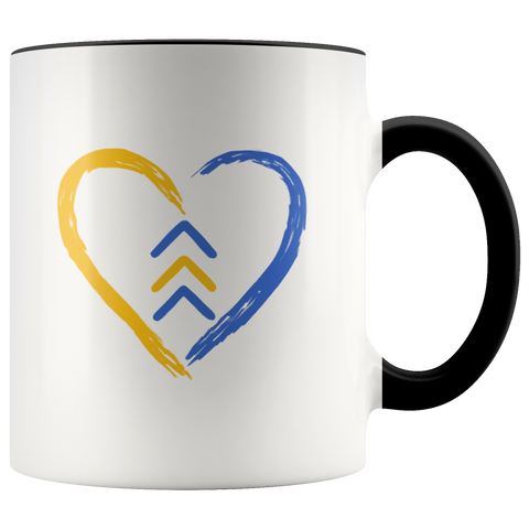 Heart Symbol Down Syndrome Awareness Mug