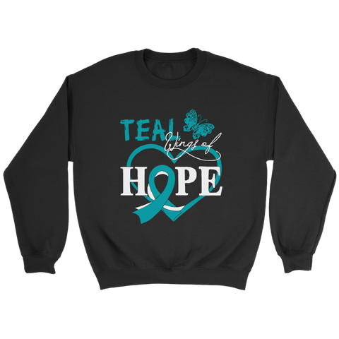 Teal Wings Of Hope - Ovarian Cancer T-Shirt