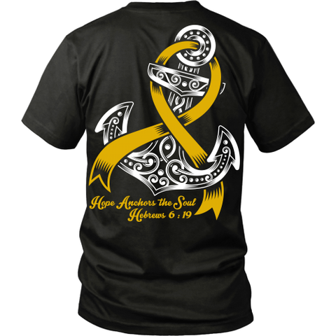 Hope Anchors The Soul Childhood Cancer T-Shirts & Hoodies