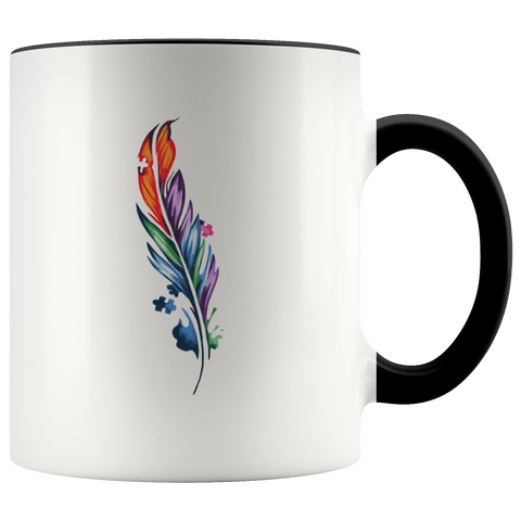 Autism Puzzle Feather Mug