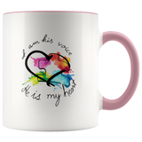 I Am His Voice He Is My Heart Autism Mug
