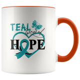 Teal Wings Of Hope - Ovarian Cancer Mug