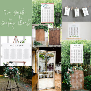 Ten Simple Seating Charts For Any Budget