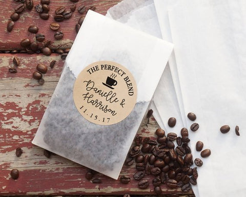 Coffee Wedding Favor from Nottingham Paper Goods