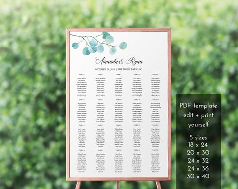 Printable Seating Chart from Megmichelle