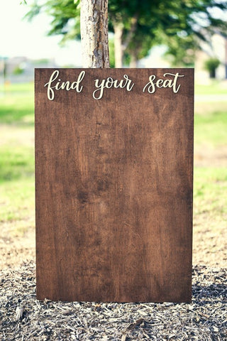 Wood Seating Chart Board from Mellow Design Crafts