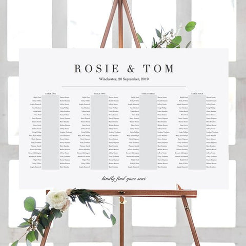 Printable Seating Chart by Connie and Joan