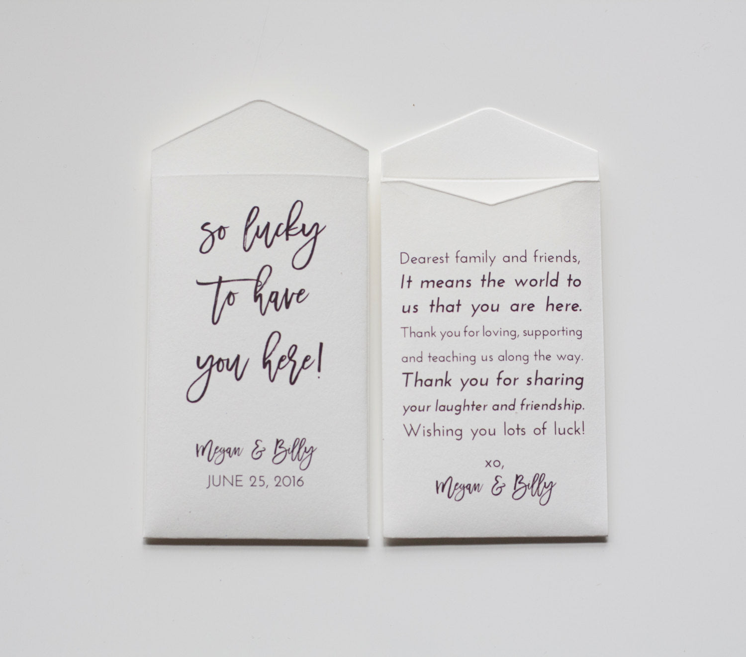 Custom White Lottery Ticket Wedding Favor Packet Envelopes - Vegas Wedding Favor - Fun Wedding Favor - Unique Favor - Many Colors Available