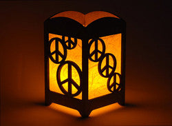 Peace Sign Light Box - Multicolor LED Candle