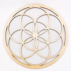 Seed of Life Wall Art - Raw Wood Home Decor