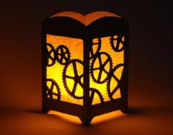 Steampunk Gears Light Box - Multicolor LED Candle