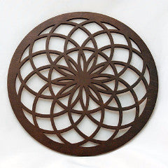 Tube Torus - Brown Wood Home Decor