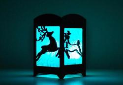 Leaping Deer Light Box - Multicolor LED Candle